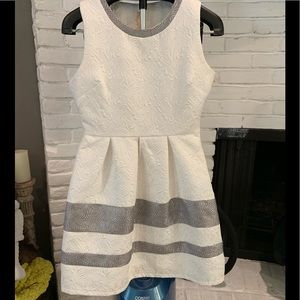 Francesca's white and silver dress - size medium